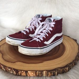 Vans high top leather sneakers